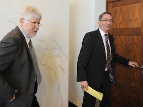 Rot-Rot in Potsdam wankt nicht: Platzeck und Finanzminister Helmuth Markov.
