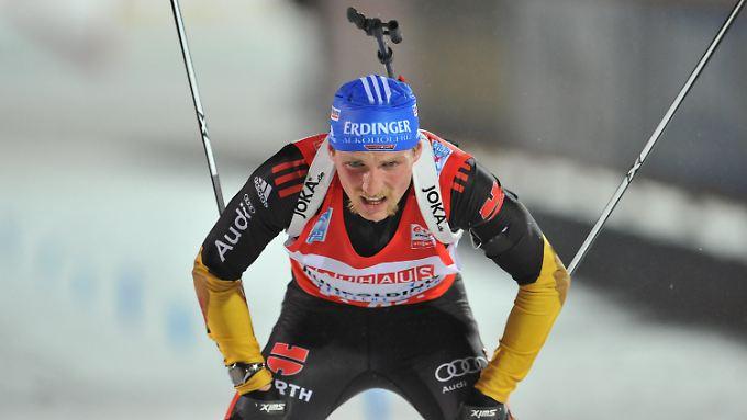 Der deutsche Schlussläufer Erik Lesser.