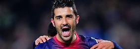 Doppeltorschütze: David Villa, FC Barcelona.