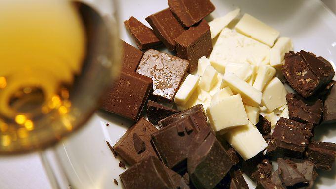 Schokolade und Wein - ein verführerisches Duett.