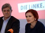 Der Linkenvorsitz: Kipping und Riexinger.