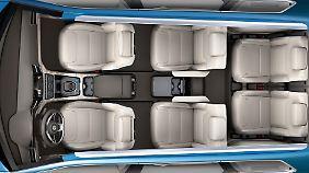 Sechs einzelne Plätze sorgen für Reisekomfort.