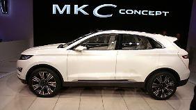 Die Studie MKC Concept gehört zu den wenigen Überraschungen in Detroit.