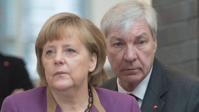 Kanzlerin Merkel und DGB-Chef Sommer.