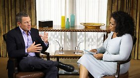 Armstrong und Winfrey im Interview: Die Ausstrahlung steht noch bevor.