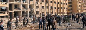 Zerstörte Wohnhäuser in Aleppo.