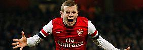 Tor des Abends: Jack Wilshere, FC Arsenal.
