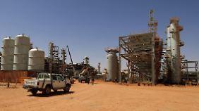 Das Gasfeld In Amenas wird von BP und Statoil betrieben.