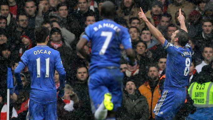 Chelsea's Frank Lampard jubelt nach seinem Treffer.