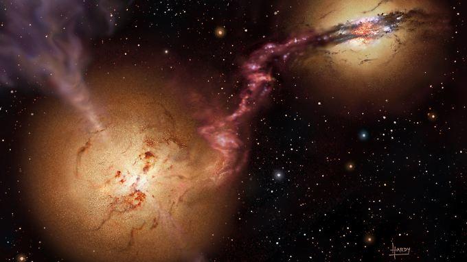 Vor 1200 Jahren kollidierten zwei schwarze Löcher und verschmolzen miteinander.