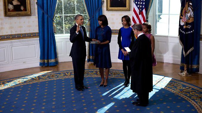 Vereidigung Nummer drei: Obama legt am Sonntag den Amtseid ab.