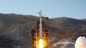 Der nordkoreanische Raketentest sorgte im Dezember 2012 weltweit für Empörung.