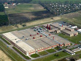 Luftbild der Urananreicherungsanlage der Urenco Deutschland GmbH in Gronau (Kreis Borken).