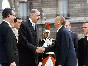 Der deutsche Zivilist und der französische General legten die Grundlage für die deutsch-französische Freundschaft.