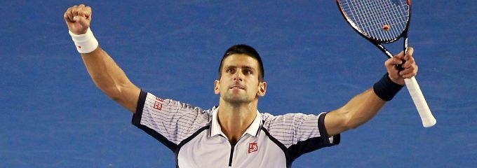 Nun im Halbfinale gegen David Ferrer: Novak Djokovic.