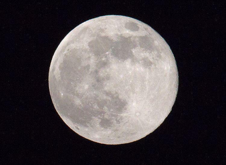 Der Mond: In rund 384.000 Kilometern Entferntung umkreist er die Erde. Normalerweise.