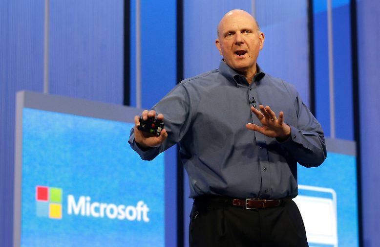 Der scheidende Microsoft-Chef Steve Ballmer war mal wieder ganz aus dem Häuschen.
