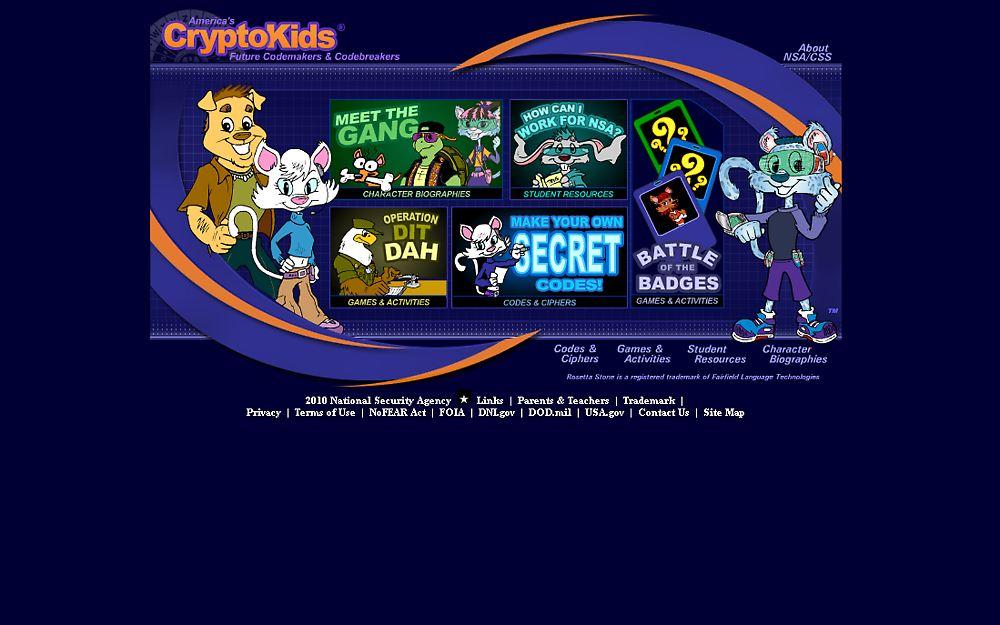 Verspielte webseite und rätsel app die nsa zeigt kindern wie cool