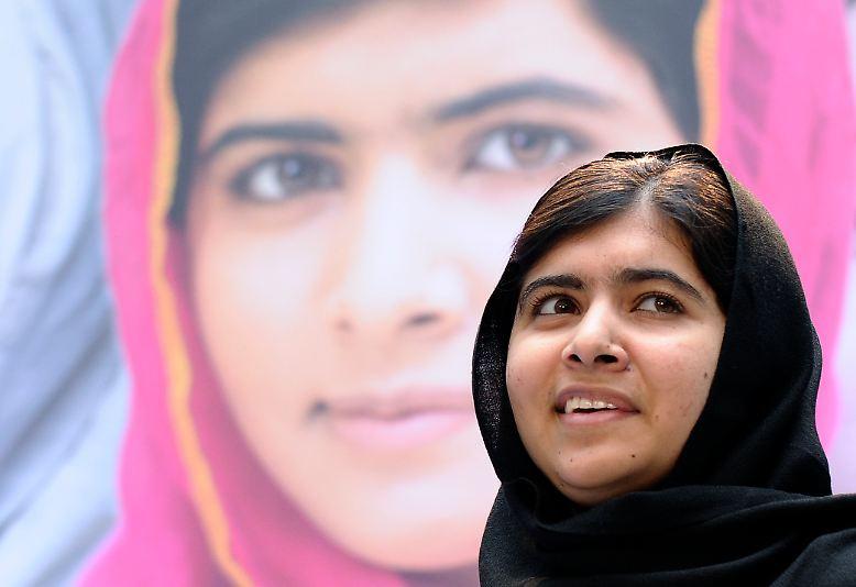 Der Friedensnobelpreis 2014 geht an die pakistanische Menschenrechtsaktivistin Malala Yousafzay ...