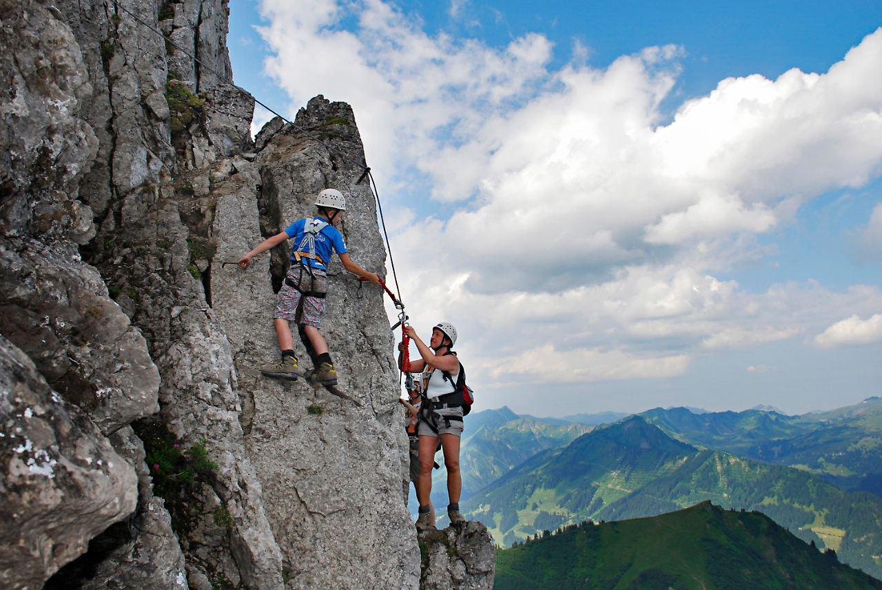 Klettersteig Kanzelwand : Walser hammerspitze m kanzelwand allgäuer alpen