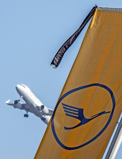 Die Lufthansa trägt Trauerflor, ...