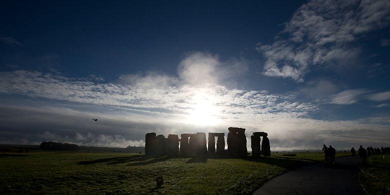 In unmittelbarer Nähe der britischen Kultstätte Stonehenge, ...
