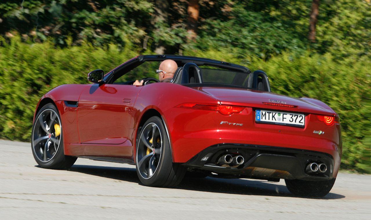 jaguar f type r cabrio awd wildkatze zum schnurren und. Black Bedroom Furniture Sets. Home Design Ideas