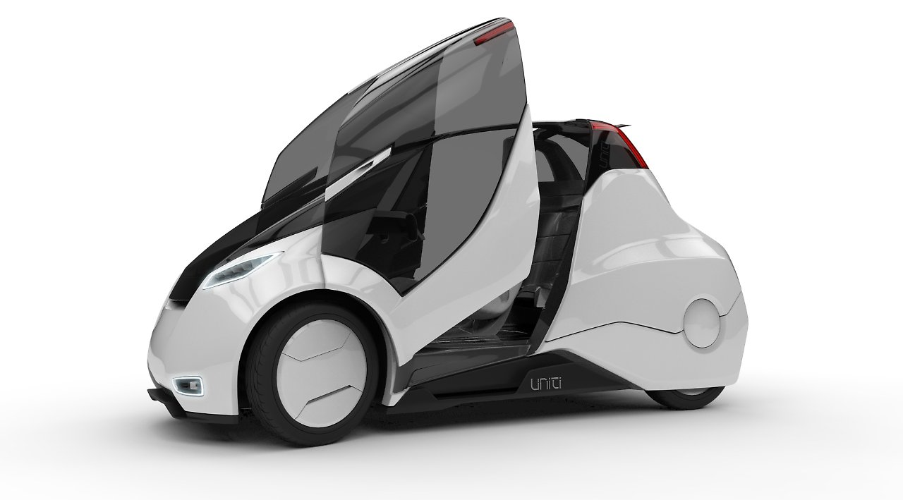 mini stadtauto von uniti ein hightech twizy aus schweden n. Black Bedroom Furniture Sets. Home Design Ideas