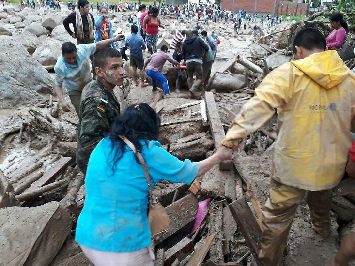 Die Katastrophe in Kolumbien kam über Nacht.