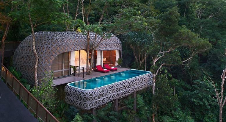 Wer möchte hier nicht aufwachen? Baumhaus-Hotels wie dieses in Phuket (Thailand) sind weltweit angesagt.