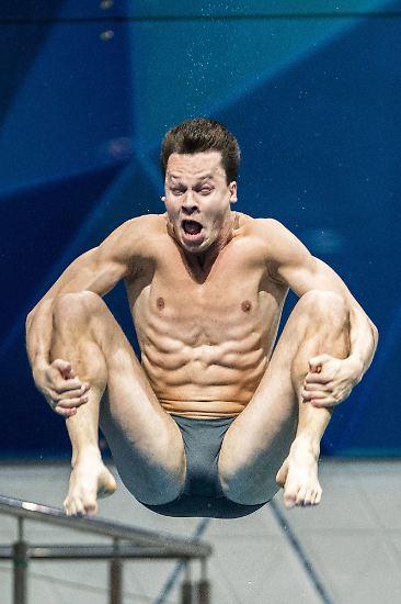Hauptsache, Wasserspringer Patrick Hausding verliert nicht sein Gesicht.