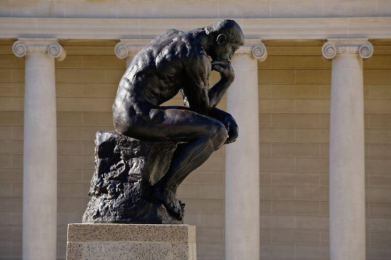 """Der in aller Welt berühmte """"Denker"""", ..."""