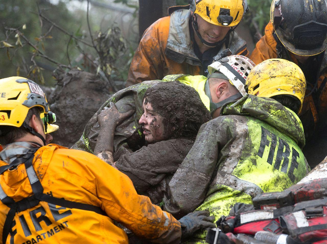 Sturzregen nach dem Feuer: Tote durch Schlammlawinen in Kalifornien