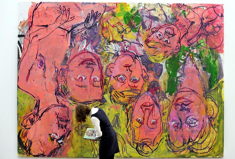 """Er hat sich mit seinen """"Kopfstand""""-Gemälden einen prominenten Platz in der Kunstgeschichte gesichert, … (im Bild: """"Wir daheim"""", 1996)"""