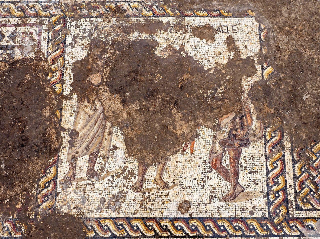 Seltenes Mosaik aus der Römerzeit in Israel entdeckt