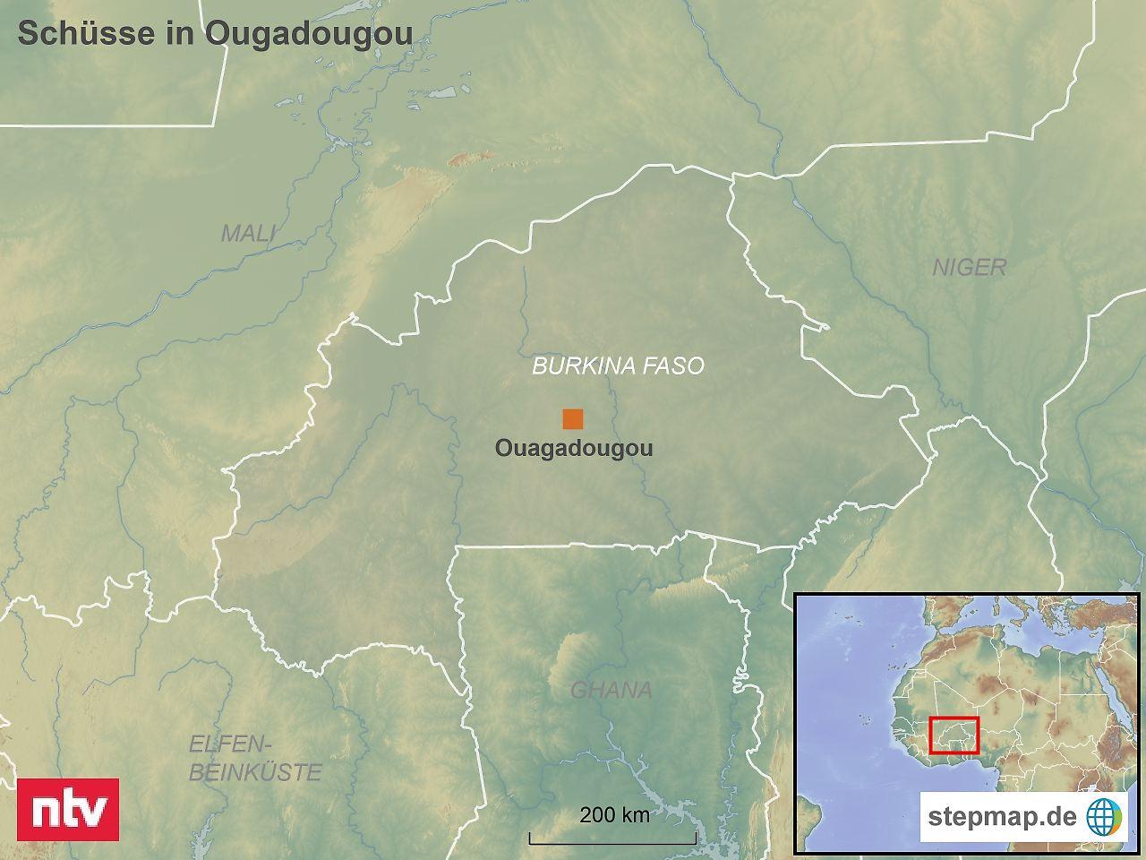 Schüsse und Rauch in Botschaftsviertel in Burkina Faso