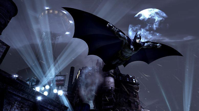 """Batman, der Superstar der Superhelden flattert wieder durch ein Videospiel. """"Batman: Arkham City"""" ist die heiß ersehnte Fortsetzung von """"Batman: Arkham Asylum"""", das 2009 Millionen Spielefans begeisterte."""