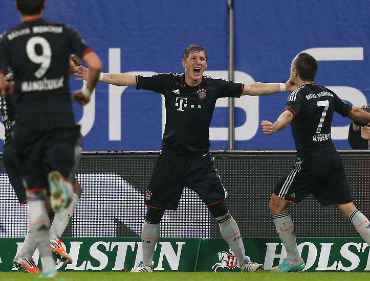 Die Bayern hatten Spaß: vor dem Spiel, durch die Patzer der Konkurrenz...