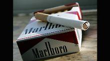 """Die Marke """"Marlboro"""" gehört zum Philip-Morris-Konzern."""