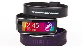 Garmins Vivosmart, Samsungs Gear Fit und Polars Loop gehören zu den teureren unter den Fitnessarmbändern.