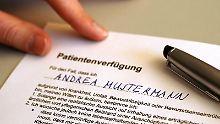 Gesetzesänderung zum 1.9.: Patientenverfügung klar geregelt