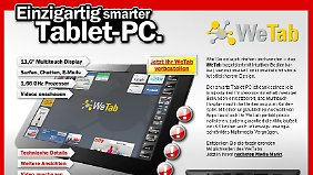 """Ob es wirklich ein """"einzigartig smarter Tablet-PC"""" ist, muss sich erst noch herausstellen."""