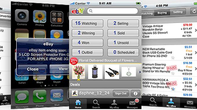 Für das iPhone gibt es bisher die meisten Ebay-Apps.