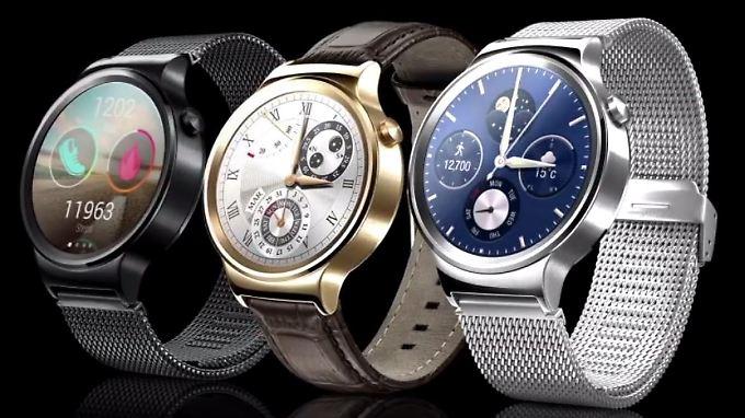 Die Huawei Watch ist schick und robust. Zum Preis hat sich Huawei noch nicht geäußert.