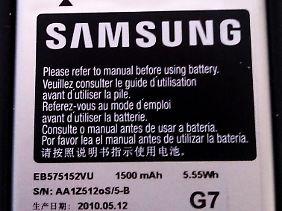 Auch der 1500 Milliamperestunden starke Akku des Galaxy S macht bei starker Nutzung abends schlapp.