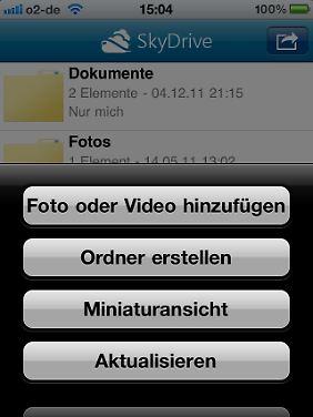 Dateien kann man auf dem iPhone aus einem Aufklapp-Menü heraus freigeben.