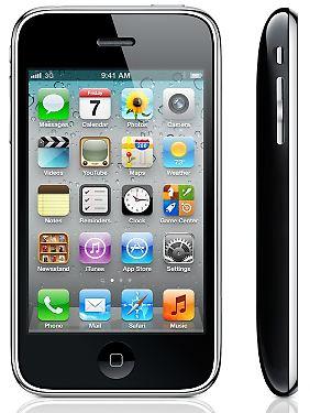 """Immer noch im Apple Store: das """"betagte"""" iPhone 3GS."""
